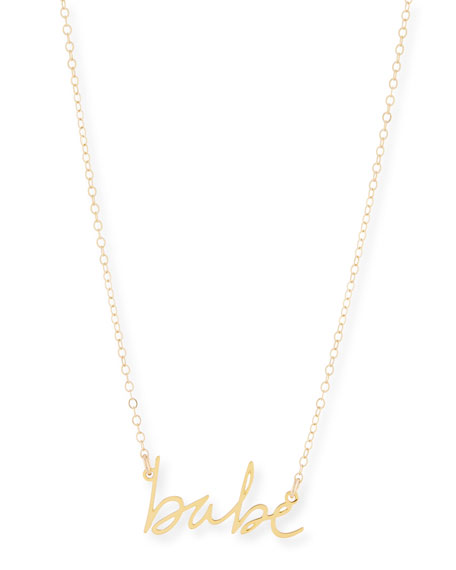 BREVITY Babe Small Pendant Necklace in Gold