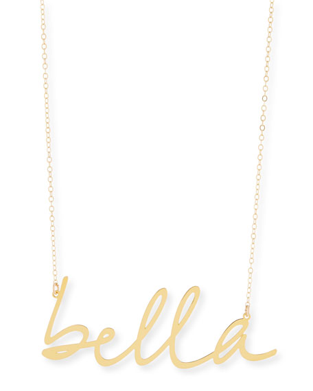 BREVITY Bella Large Pendant Necklace in Gold