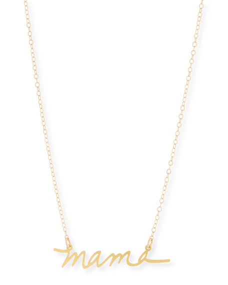 BREVITY Mama Small Pendant Necklace in Gold
