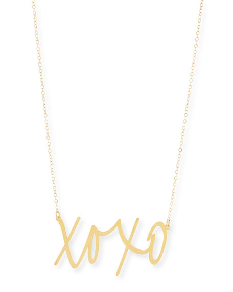 Brevity XOXO Large Pendant Necklace tjFORbQedt