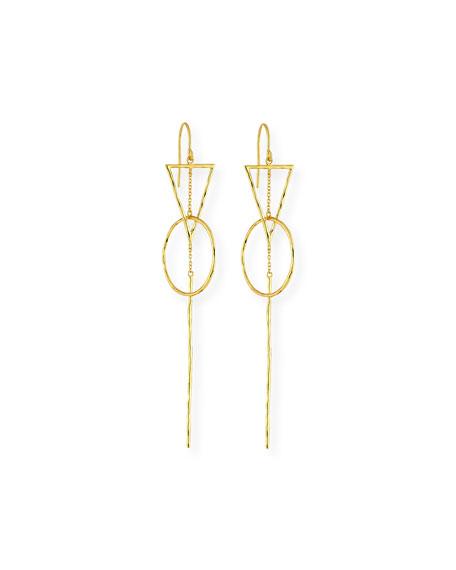 Interlocking Triangle Drop Earrings