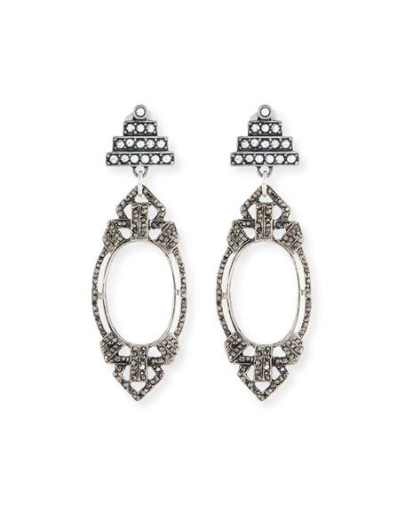 LULU FROST Lillet Statement Earrings in Silver