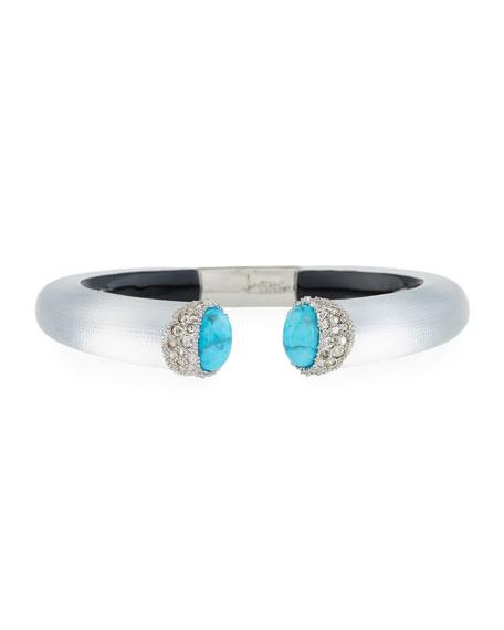Imitation Turquoise Cap Bracelet