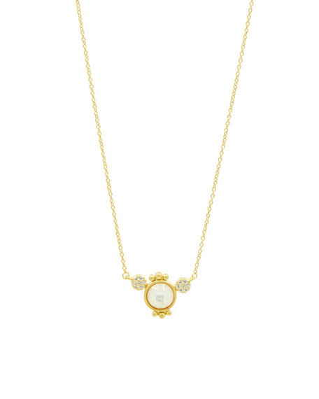 Freida Rothman Mother-of-Pearl Pendant Necklace