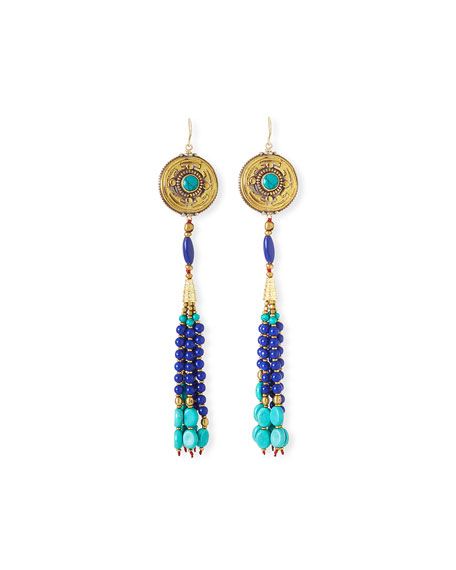 Antique-Inspired Tassel Drop Earrings