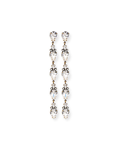 Olivia Linear Crystal Drop Earrings