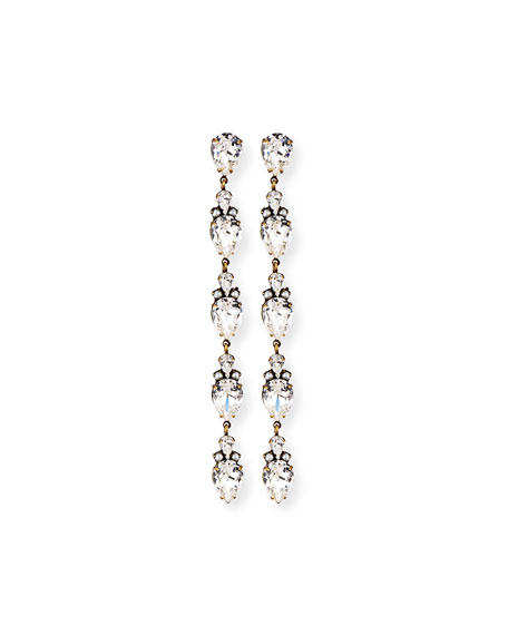 Olivia Linear Crystal Drop Earrings
