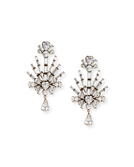 Image 1 of 2: Auden Lilith Crystal Statement Earrings