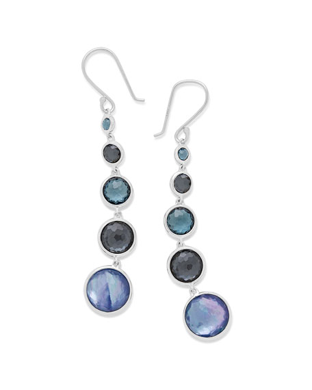 Silver Lollitini Five-Stone Earrings in Eclipse