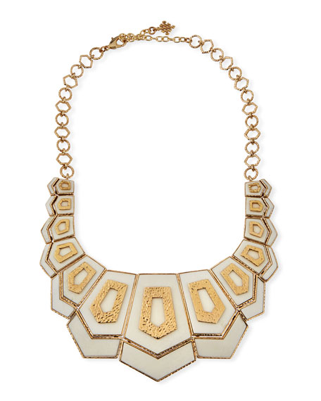 Image 1 of 2: Hexagon Vertical Bib Necklace