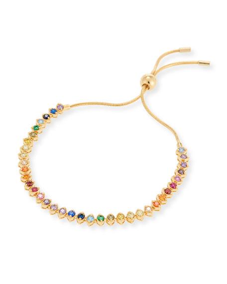 Rainbow Crystal Marquis Bracelet