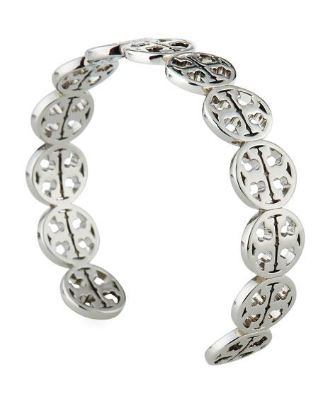 Golden Logo Circle Cuff Bracelet
