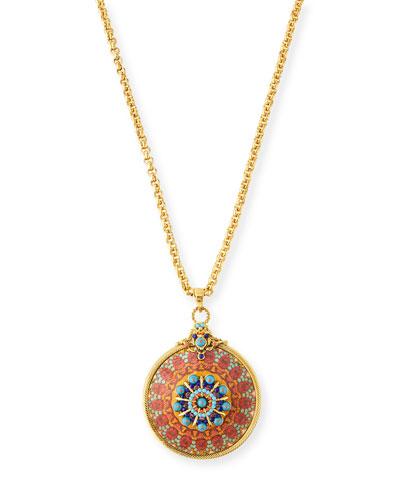 Decoupage Pendant Necklace
