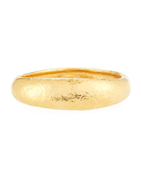 Hammered 24K Gold-Plate Bangle