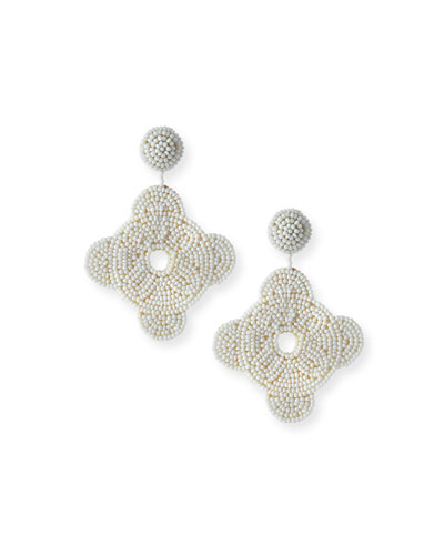 Geometric Seed-Bead Earrings