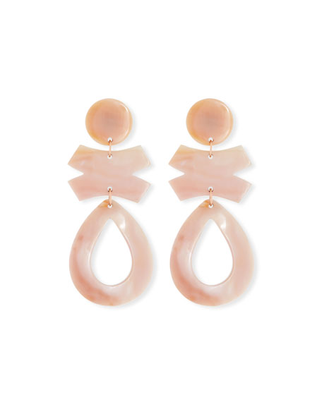 Pink Mother-of-Pearl Drop Earrings