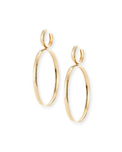 Curve Large Hoop Drop Earrings