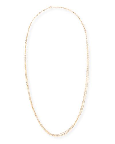 Blake Three-Strand Chain Necklace in 14K Gold, 30