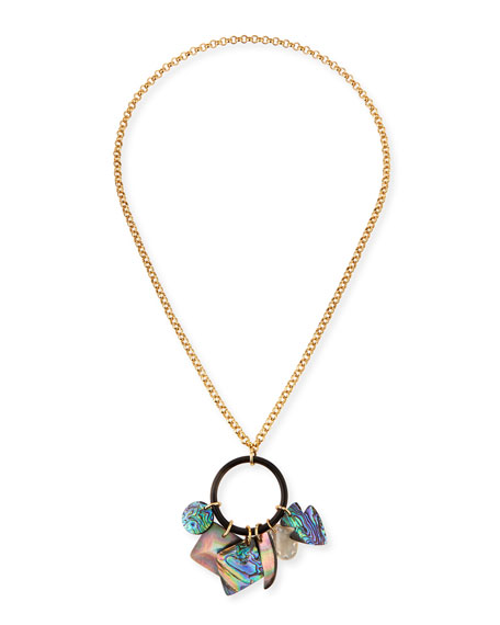 NEST Jewelry Long Mother-of-Pearl Pendant Necklace