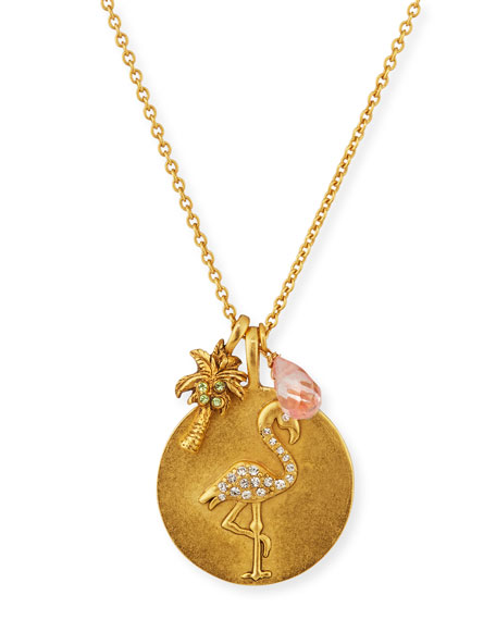 Flamingo Talisman Charm Necklace