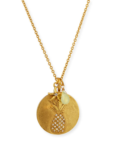 Pineapple Charm Talisman Necklace