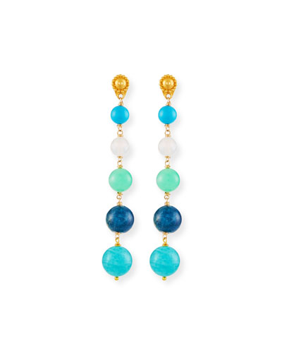 Five Turquoise Drop Earrings