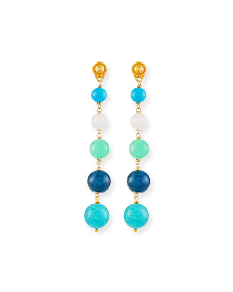 Dina Mackney Five Turquoise Drop Earrings