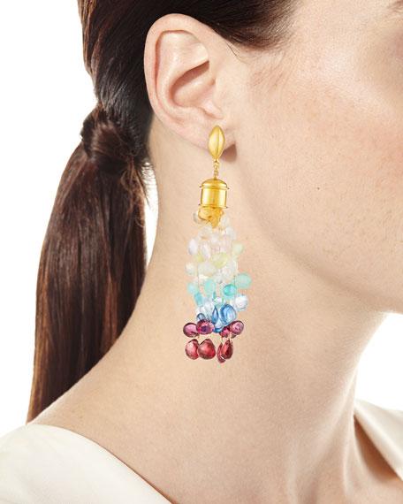 Ombré Rainbow Drop Earrings