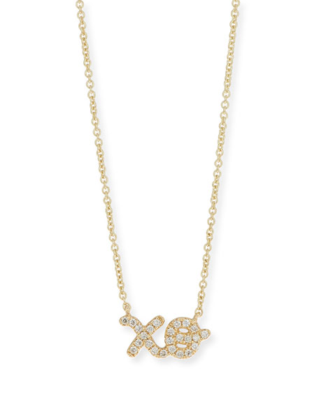 Sydney Evan 14k Diamond XO Pendant Necklace
