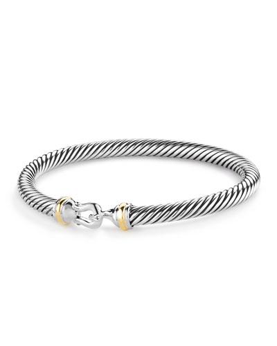 Cable Classic Buckle Bracelet w/ 18k Gold