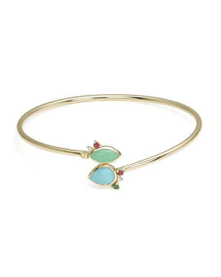 Prisma Dots Flex Bangle in Portofino