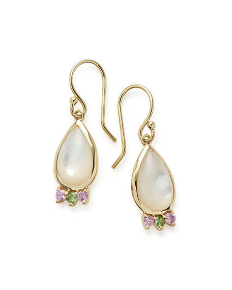 Prisma Teardrop Cabochon Earrings in Mother-of-Pearl