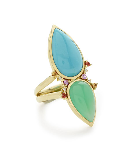 Ippolita Prisma Dots Double-Stone Ring in Portofino, Size