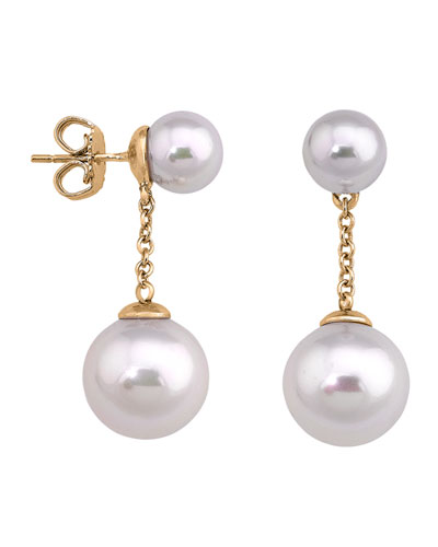 Simulated Pearl Chain Drop Earrings