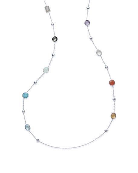 "Ippolita 925 Rock Candy® Medium-Station Necklace in Eclipse, 42""L"