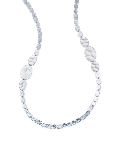 925 Senso™ Long Oval & Rectangle Necklace, 34