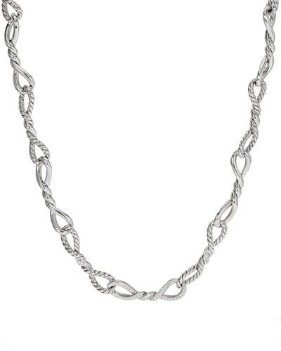 Continuance Silver Diamond & Link Necklace, 17