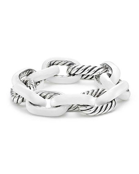 Madison Large Enamel Silver Link Bracelet