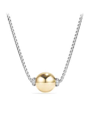 David Yurman 18k Solari Pendant Necklace w/ Diamonds