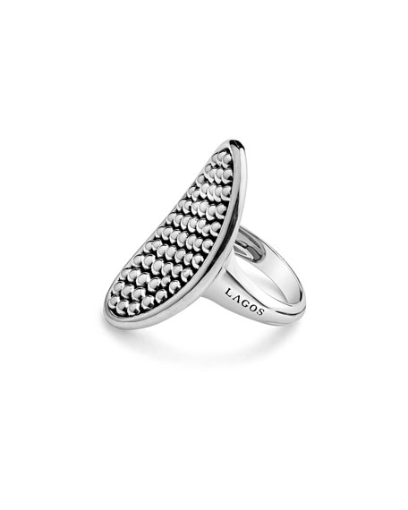 Bold Caviar 36mm Vertical Oval Ring