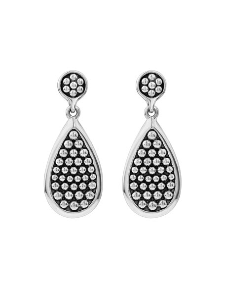 Bold Caviar Teardrop Earrings