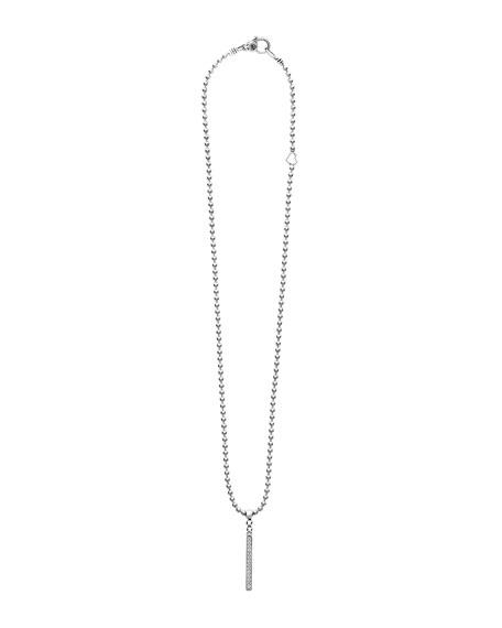 Caviar Spark Diamond Stick Pendant Necklace