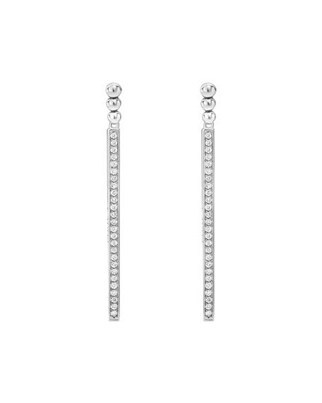 Caviar Spark Diamond Linear Drop Earrings