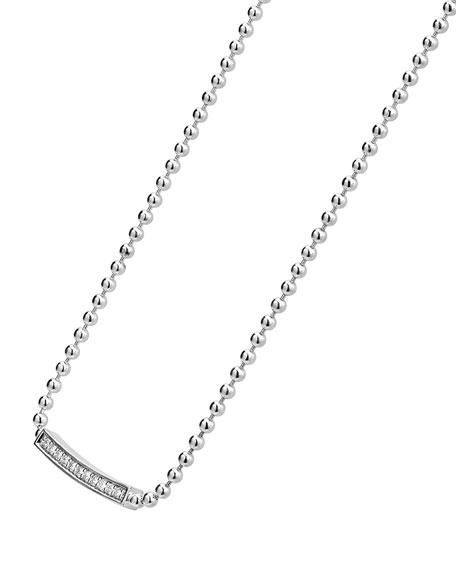 Caviar Spark Diamond Ball-Chain Necklace