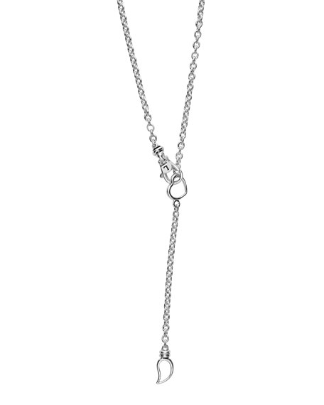 Diamond Caviar XOXO Pendant Necklace