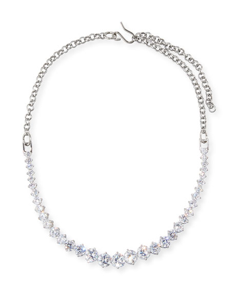 Monarch Graduated Crystal Choker Necklace