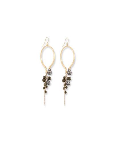 Bead Cluster Arc Earrings