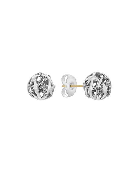 Lagos Caviar Talisman Woven Knot Stud Earrings