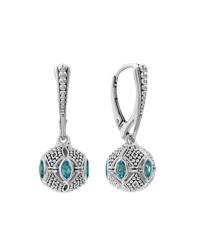 Caviar Talisman Marquise Ball Drop Earrings