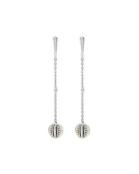 Caviar Talisman Two-Tone Drop Earrings